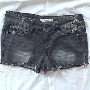 Guess black cut off demin shorts